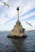 picture of sevastopol  - Monument to the flooded ships in a bay of city of Sevastopol - JPG