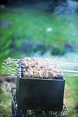 picture of frizzle  - Preparation of meat slices in sauce on fire - JPG