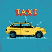 pic of silkscreening  - Taxi - JPG