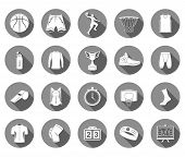 Постер, плакат: Vector Set Of Icons Basketball