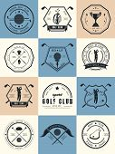 picture of clubbing  - Vector set of golf club labels and emblems - JPG