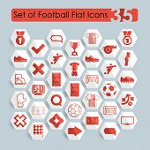 pic of offside  - It is a set of 35 football flat icons - JPG