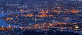 picture of royal palace  - Landscape of Bangkok and the river with the Thai royal place from bird view - JPG