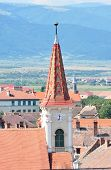 image of sibiu  - Sibiu city Romania Reformed Church tower architecture