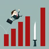 image of dangerous  - Businessman risk of investment mistakes - JPG