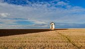 picture of chapels  - A small chapel in the middle of autumn fields - JPG