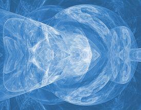 stock photo of plasmatic  - Beautiful plasmatic texture in blue and white spectrum - JPG