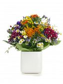 picture of vase flowers  - Summer flower bouquet - JPG