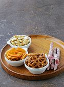 foto of pretzels  - Various salty snacks  - JPG