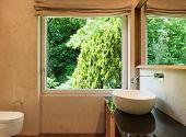 image of bathroom sink  - interior modern house - JPG