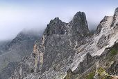 picture of rainy weather  - Apuan Alps  - JPG