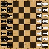 image of chessboard  - Chess board with figure - JPG