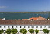 stock photo of faro  -  View of the old town of Faro  - JPG