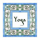 stock photo of yoga  - ector yoga illustration - JPG