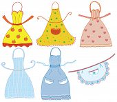 Funny bright aprons set