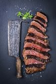 stock photo of wagyu  - Steak Slices - JPG
