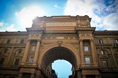 picture of piazza  - Architecture of Piazza della Repubblica in Florence - JPG
