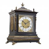 picture of embellish  - Vintage table clock with Roman numbers and embellishments. ** Note: Visible grain at 100%, best at smaller sizes - JPG