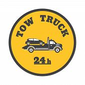 pic of towing  - Tow truck icon on a white background - JPG