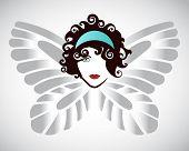 foto of kundalini  - Womans face butterfly wings  - JPG