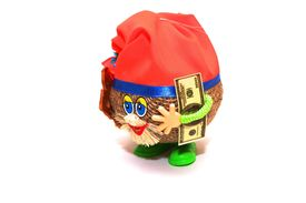 foto of  midget elves  - photo of the money gnome on white background - JPG