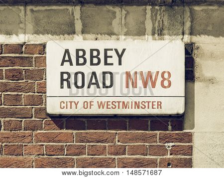 Vintage Looking Abbey Road London