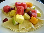 Fruit Salad Crepe