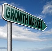 growth market economy growing emerging economies in developing countries 3D, illustration poster