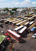 picture of gare  - Gare du Nord in Port Louis Mauritius where people must take bus to go to the North - JPG