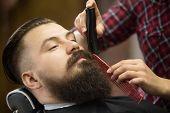 Beard Grooming Close-up Shot poster