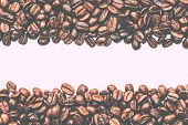 Постер, плакат: Coffee Beans Stripes