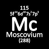 Periodic Table Element Moscovium Icon. Vector Illustration. poster