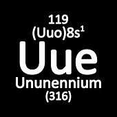 Periodic Table Element Ununennium Icon. Vector Illustration. poster