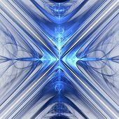 Bright Abstract Fractal Blue Veil Of Fantasy, Fractal Waves Fantasy poster