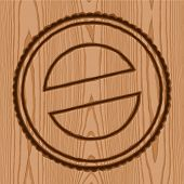 wreath seal brand wood pattern background poster