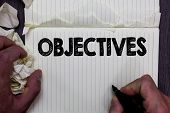 Handwriting Text Writing Objectives. Concept Meaning Goals Planned To Be Achieved Desired Targets Co poster