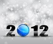 pic of new years celebration  - Colorful New Year Celebration Background with Glitter and Blue Bauble - JPG