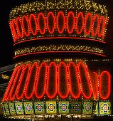 image of las vegas casino  - Neon lights in Las Vegas at nighttime - JPG