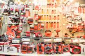 Abstract Blurred Variety Of Power Tools At Home Improvement Department poster