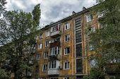 Soviet Architecture. Ust-kamenogorsk (kazakhstan) Apartment Building. Soviet Architectural Style. Re poster