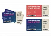 Ticket Concert Invitation, Show. Music, Dance, Live Concert Tickets Templates poster