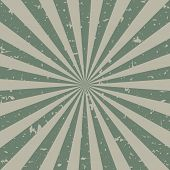 Sunlight Retro Faded Grunge Background. Dirty Grey And Green Color Burst Background. Vector Illustra poster