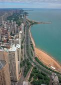 An Aerial Image Of The Chicago, Illinois Skyline. poster