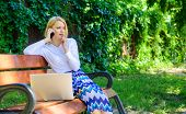 Call Sales Techniques. Sales Manager Works In Park. Woman With Laptop Works Outdoors. Best Sales Man poster