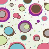 pic of dtp  - retro circles background computer generated abstract design - JPG