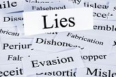 A Conceptual Look At Lies Or Lying, Evasion And Dishonesty. poster