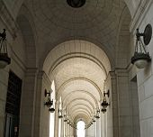 pic of amtrak  - Archways at Union Station in Washington DC - JPG