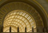 foto of amtrak  - Interior Archways at Union Station in Washington DC - JPG
