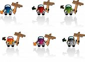 foto of beetle car  - Cartoon car icons from a series in my portfolio - JPG