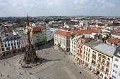 The Holy Trinity Column In Olomouc (aerial View)